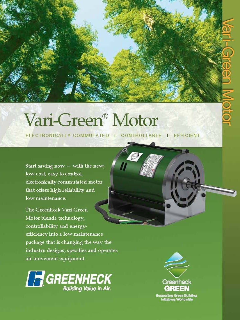 Greenheck Vari-Green Motor Catalog